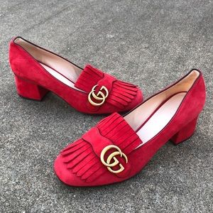 ❌SOLD ❌Gucci Marmont Red mid heels
